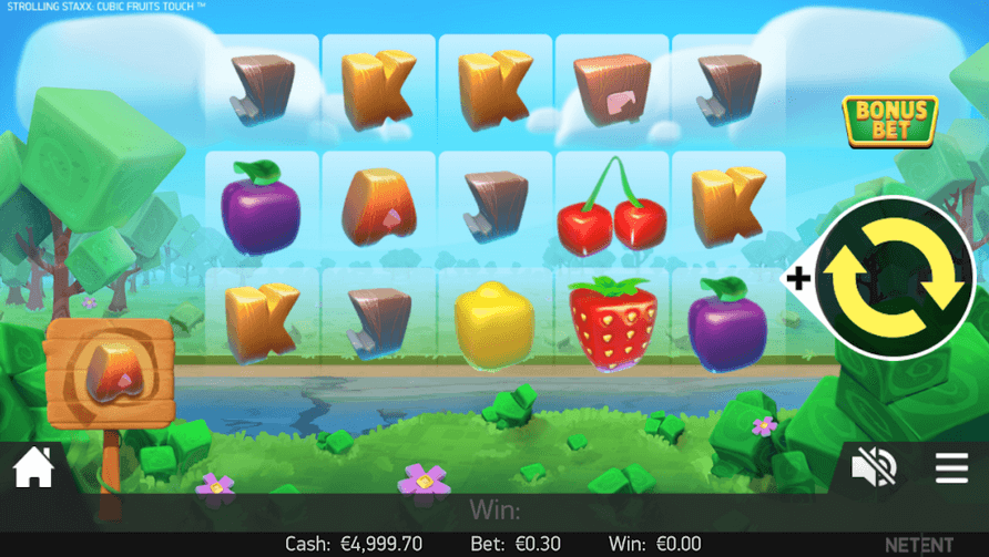 Strolling Staxx: Cubic Fruits Slot mobil