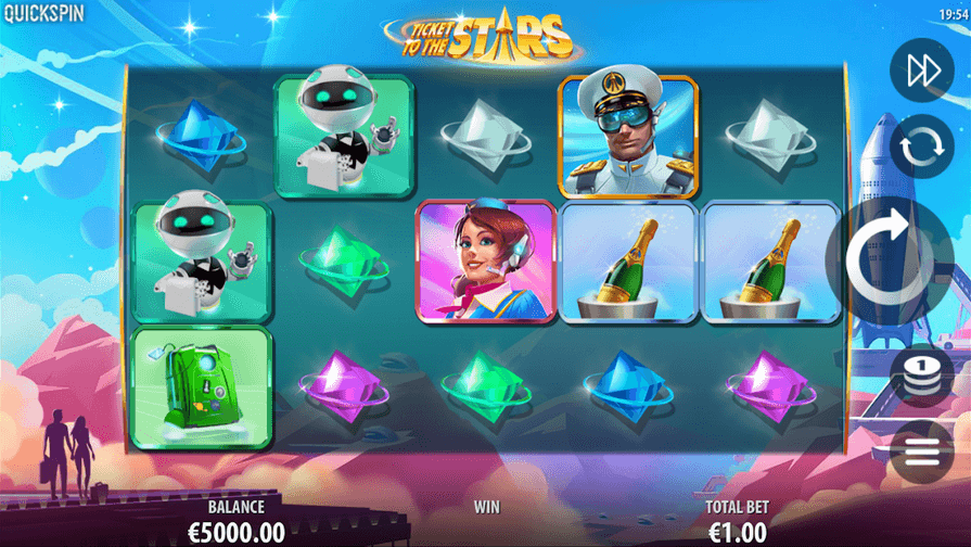 Ticket to the Stars Slot mobil
