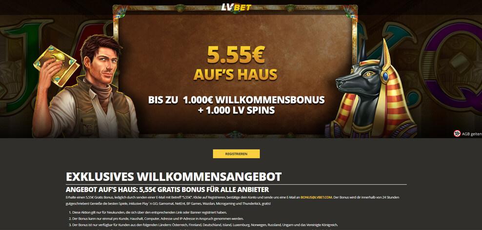 Echtgeld Casino Bonus ohne Einzahlung