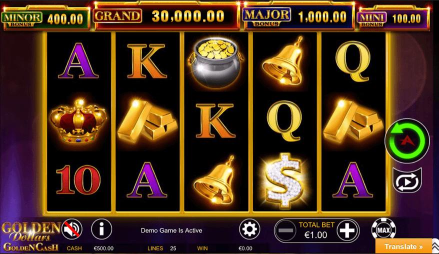 Golden Dollars Golden Cash Slot Mobil