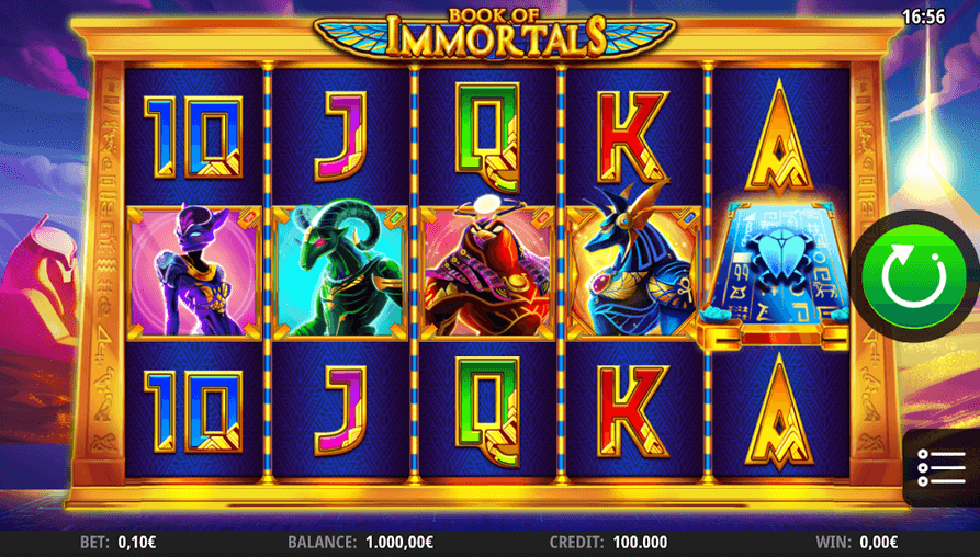 Book of Immortals Slot Mobil