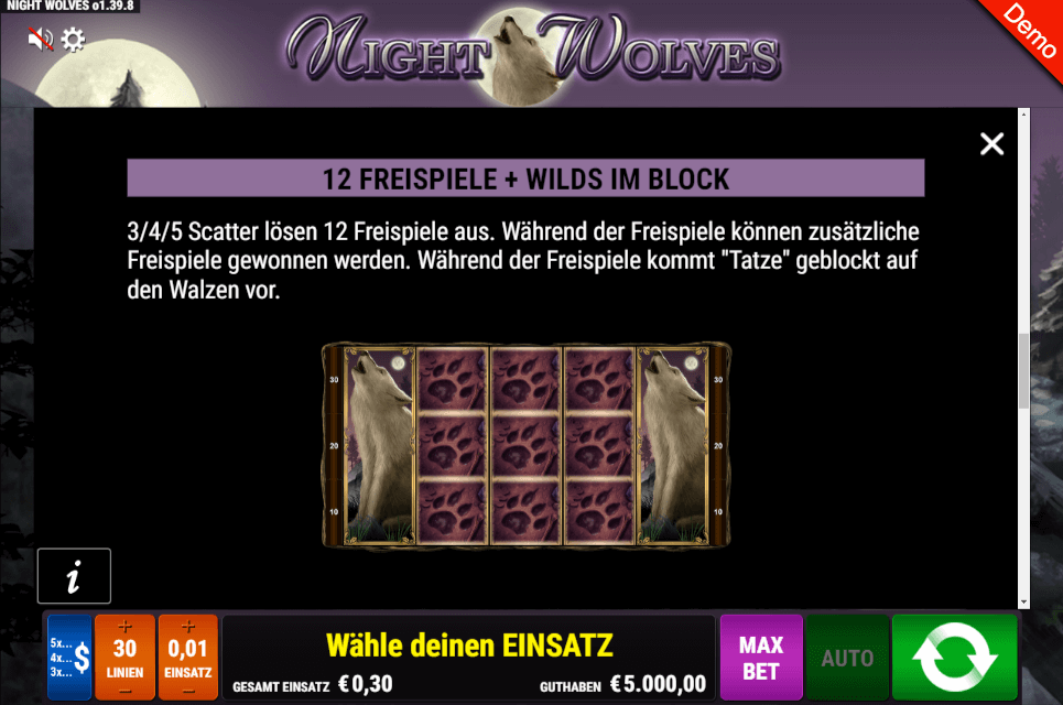 Night Wolves Slot Freispiele
