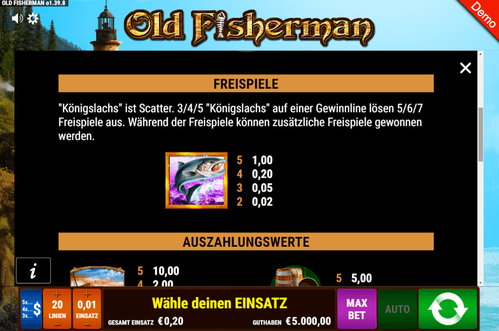 Old Fisherman Freispiele