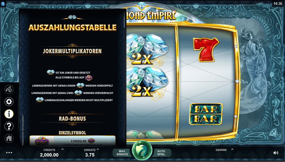 Diamond Empire Slot Auszahlung
