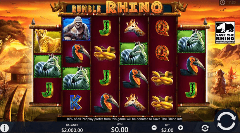 Rumble Rhino Slot Mobil