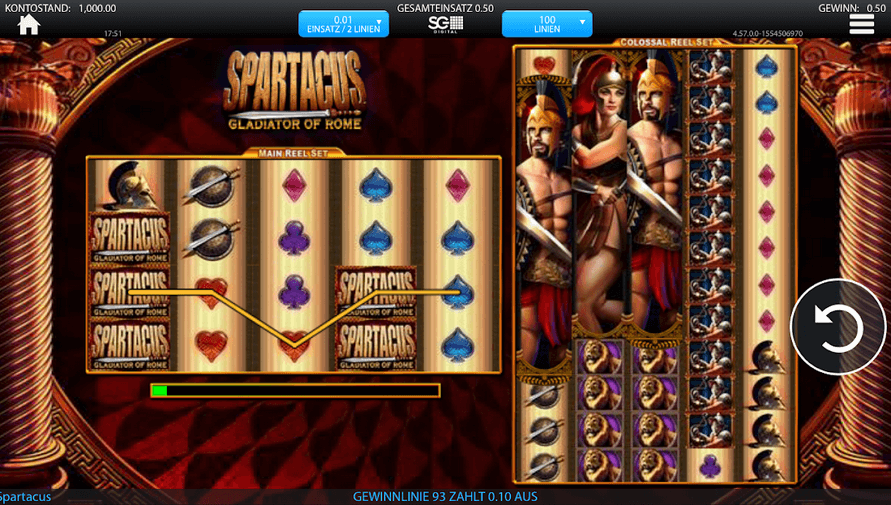 Spartacus Legendary Warrior Slot Mobil