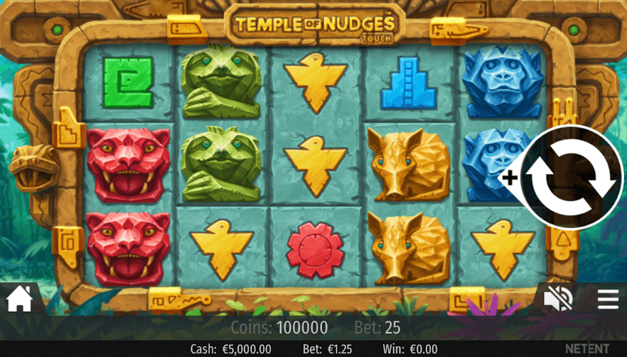 Temple of Nudges Slot Mobil