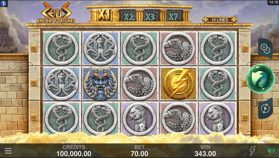 Ancient Fortunes Zeus Slot Mobil