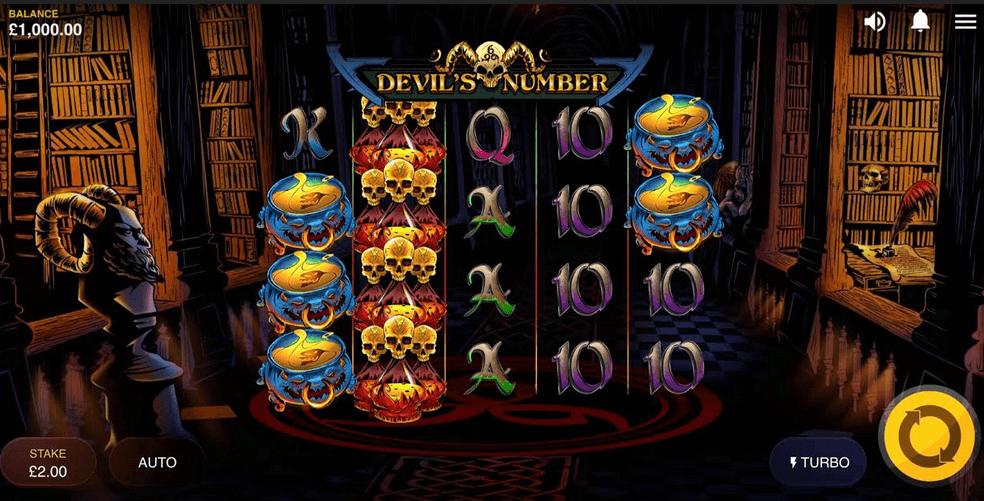 Devil's Number Slot mobil