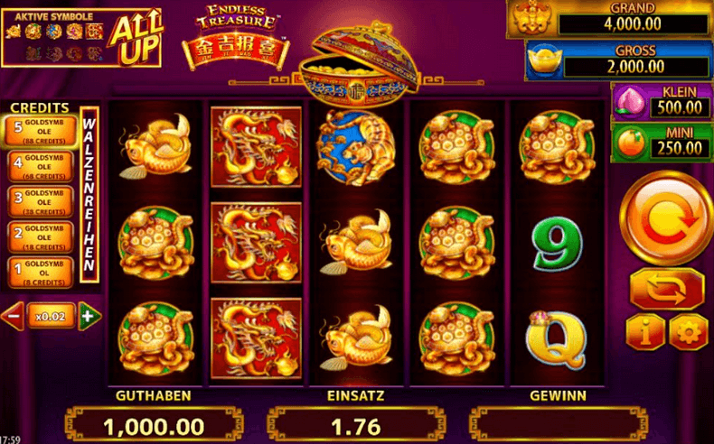 Jin Ji Bao Xi: Endless Treasure Slot mobil