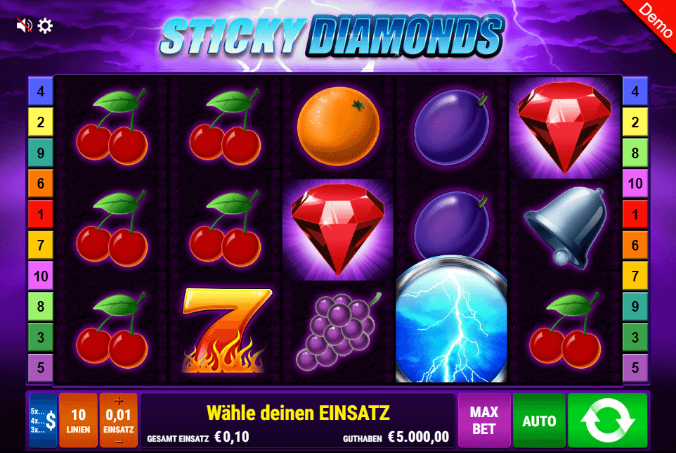 Sticky Diamonds Slot mobile