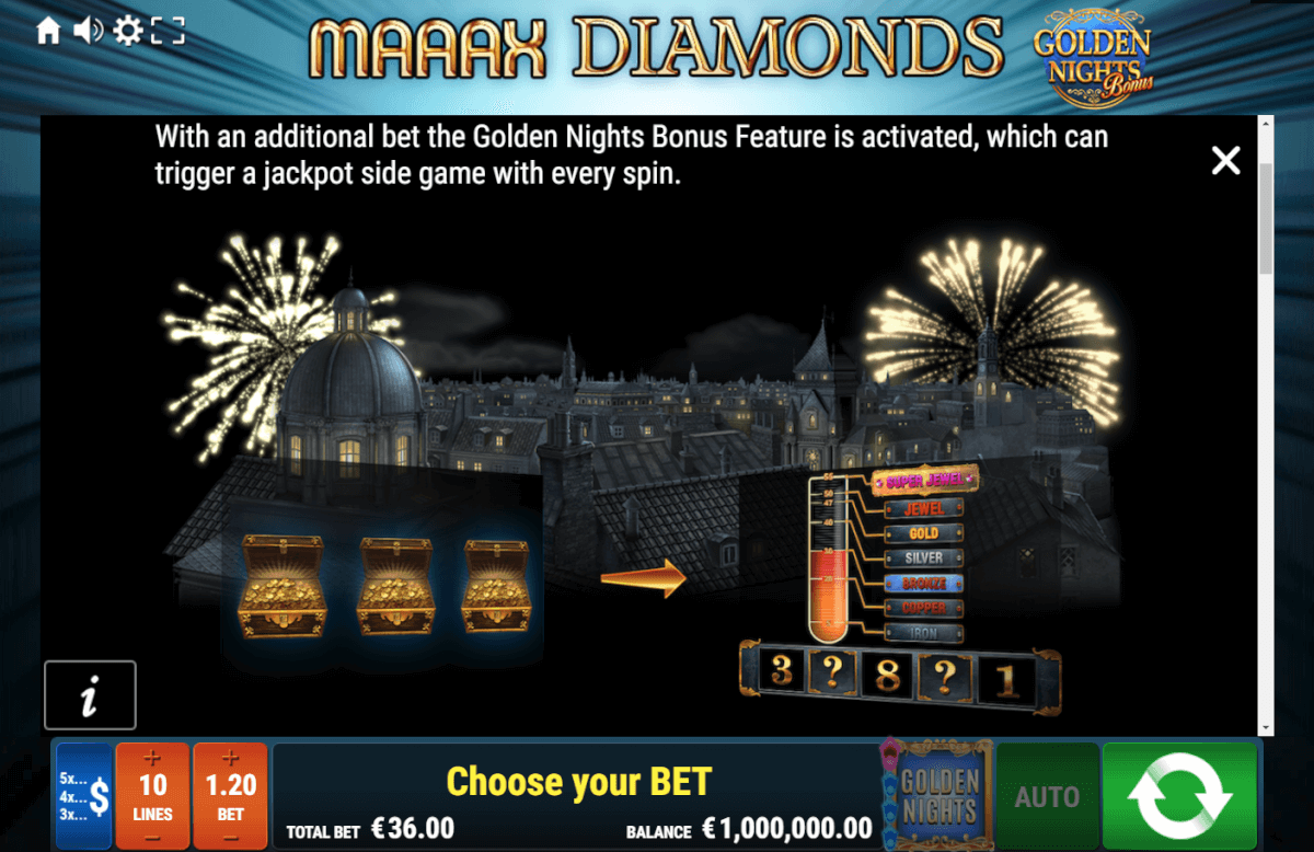 Maaax Diamonds Golden Nights Bonus