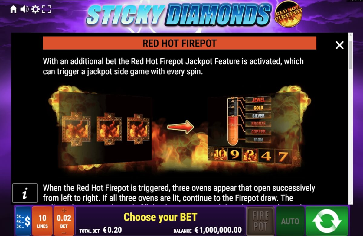 Sticky Diamonds Red Hot Firepot