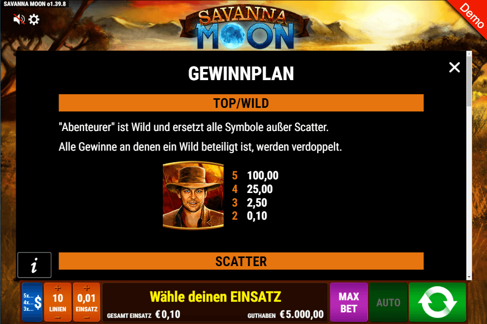 Savanna Moon Wild Slot