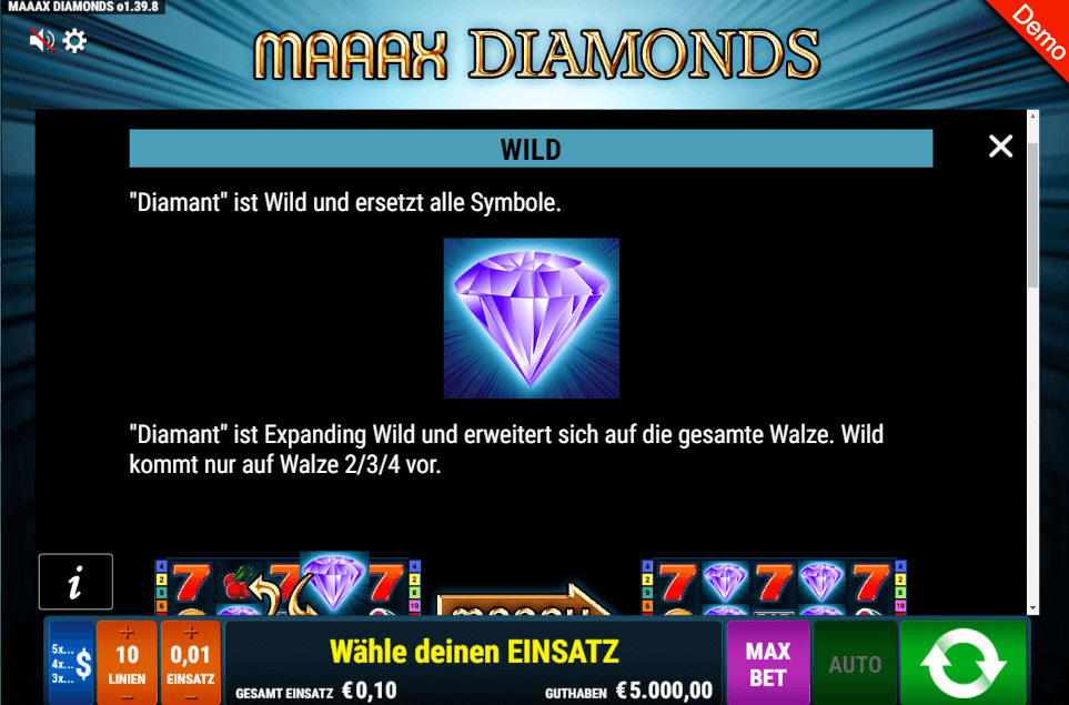 Maaax Diamonds Slot Wild