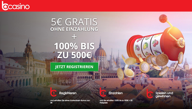 bcasino 5 euro gratis