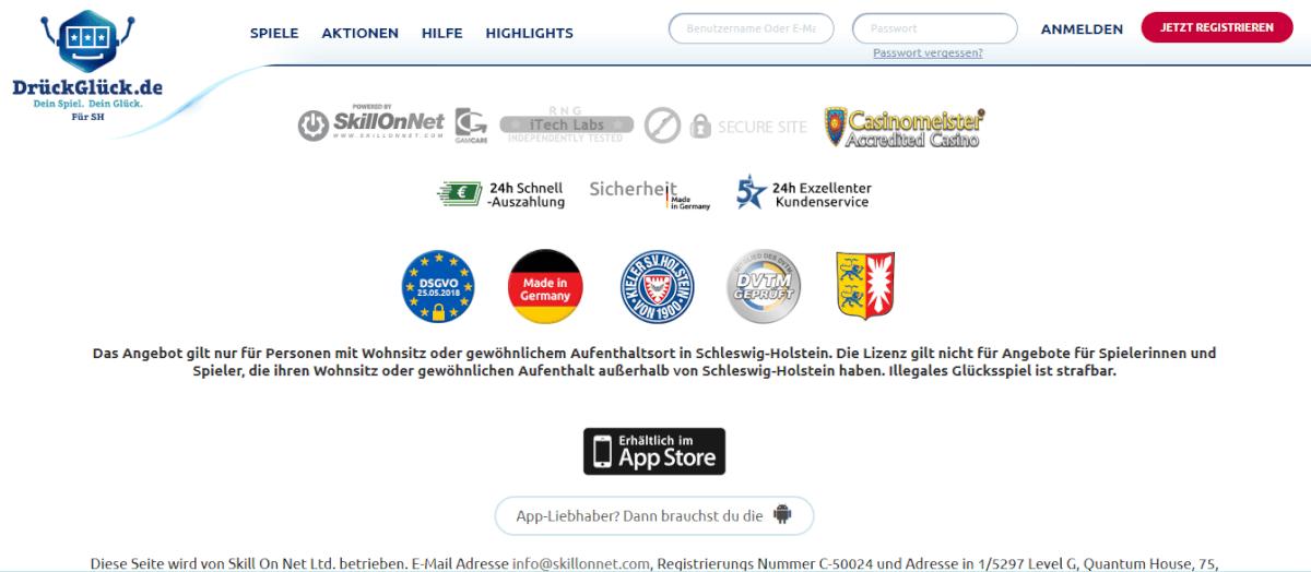 drückglück glücksspielstaatsvertrag lizenz schleswig-holstein