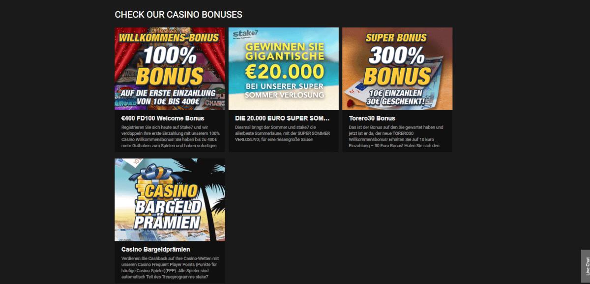 Stake 7 Casino Bonus