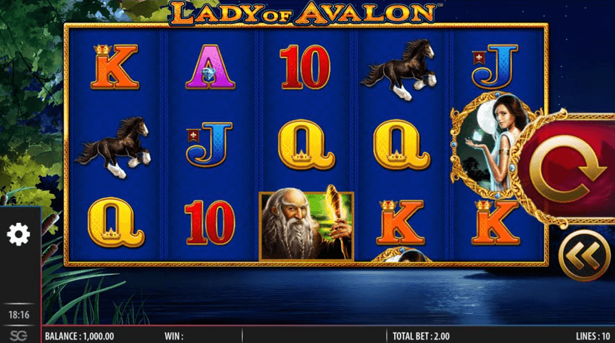 Lady of Avalon Slot Mobil