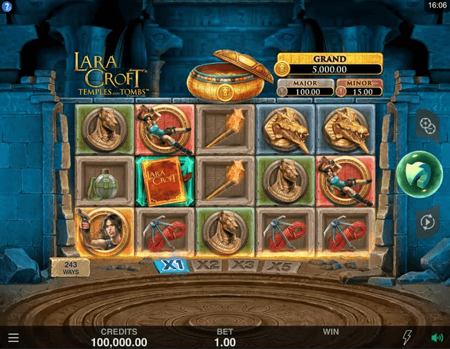 Lara Croft Temples and Tombs Slot Mobil