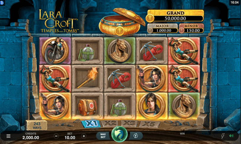 Lara Croft Temples and Tombs Slot