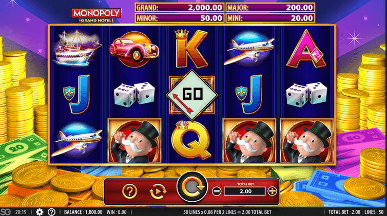 Monopoly Grand Hotel Slot