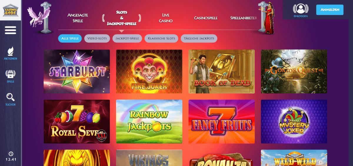 Casino Gods Spiele