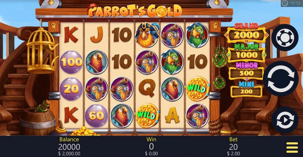 Parrot's Gold Slot mobil