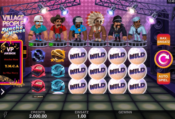 Village People: Macho Moves Slot Mobil