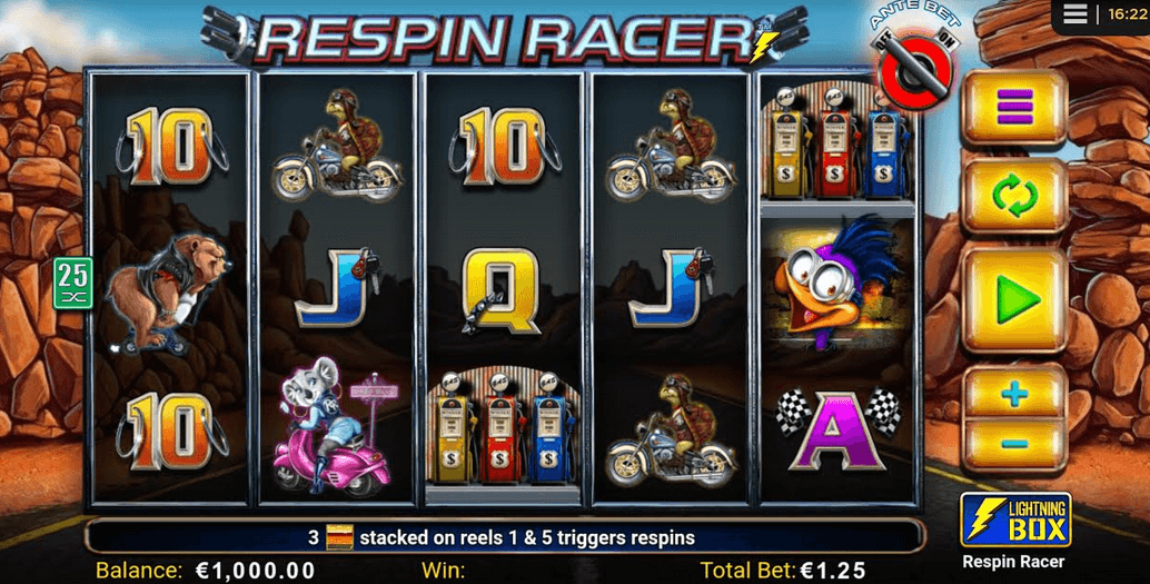 Respin Racer Slot Mobil