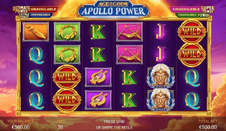 Age of Gods: Apollo Power Slot mobil