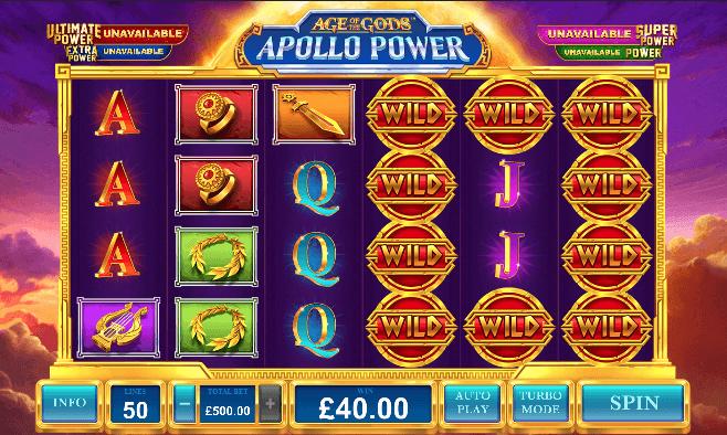 Age of Gods: Apollo Power Slot