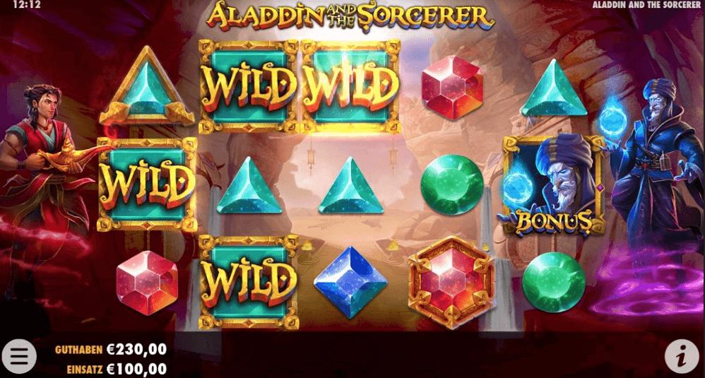 Aladdin and the Scorcerer Slot Mobil