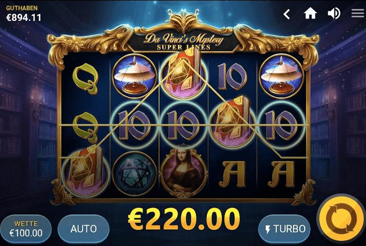 Da Vinci's Mystery Slot mobil