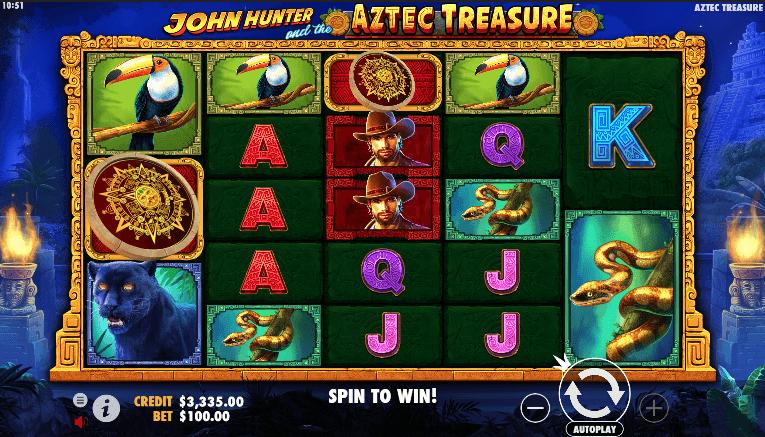 John Hunter Aztec Treasure Slot