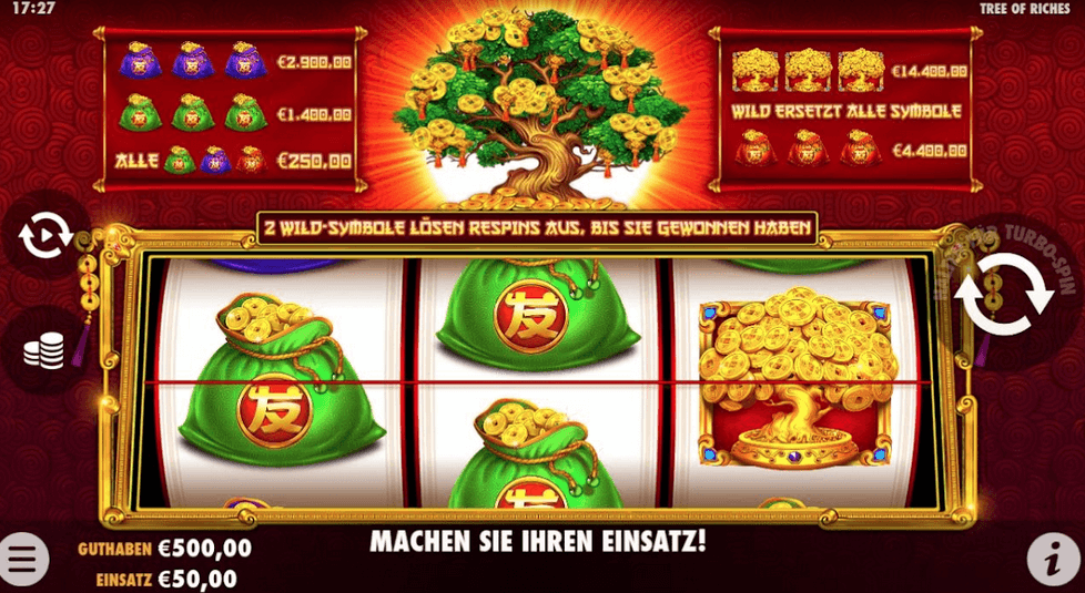 Tree of Riches Slot Mobil