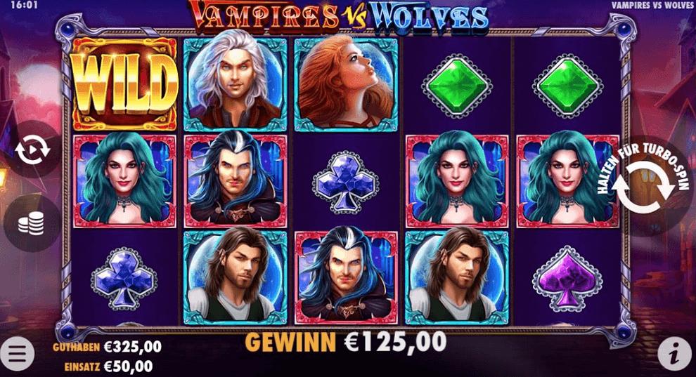 Vampires vs Wolves Slot Mobil