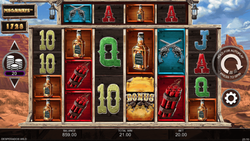 Desperados Wilds Megaways Slot