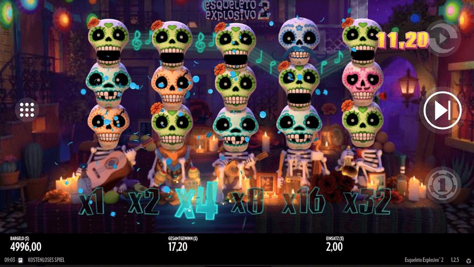 Esqueletop Expolosivo 2 Slot Mobil