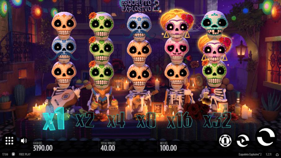 Esqueletop Expolosivo 2 Slot