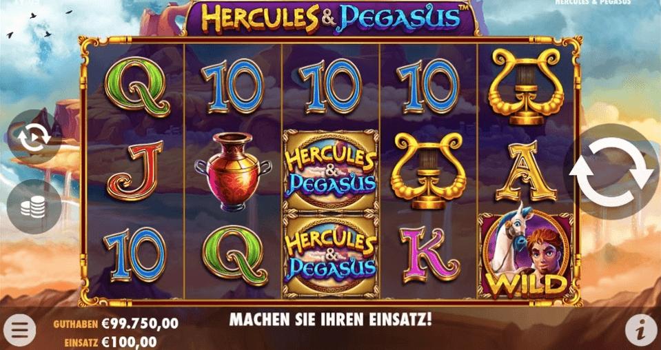 Hercules and Pegasus Slot Mobil