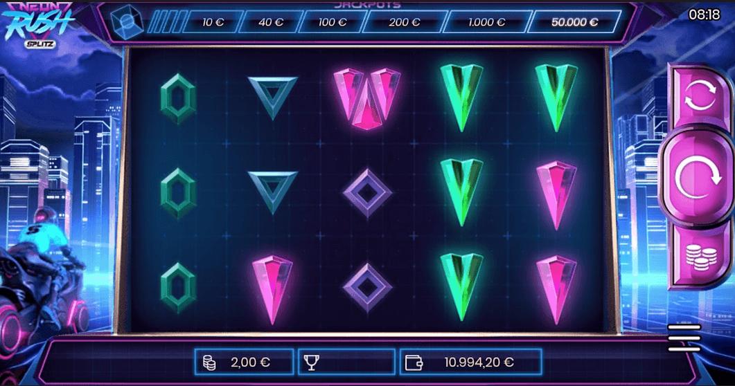 Neon Rush Splitz Slot mobil