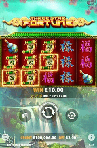 Three Stars Fortune Slot Mobil
