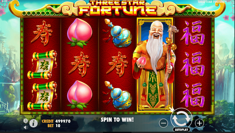 Three Stars Fortune Slot