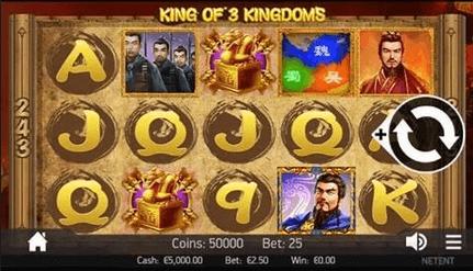 King of 3 Kingdoms Slot Mobil