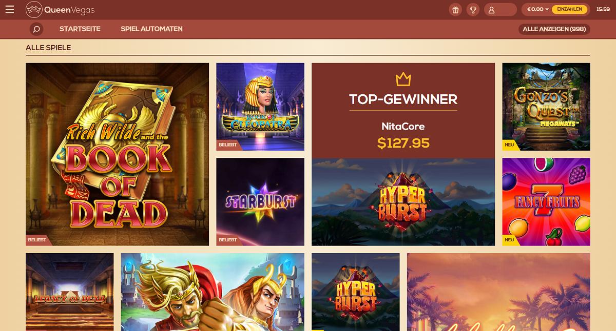 Queenvegas Slots Online Spielothek