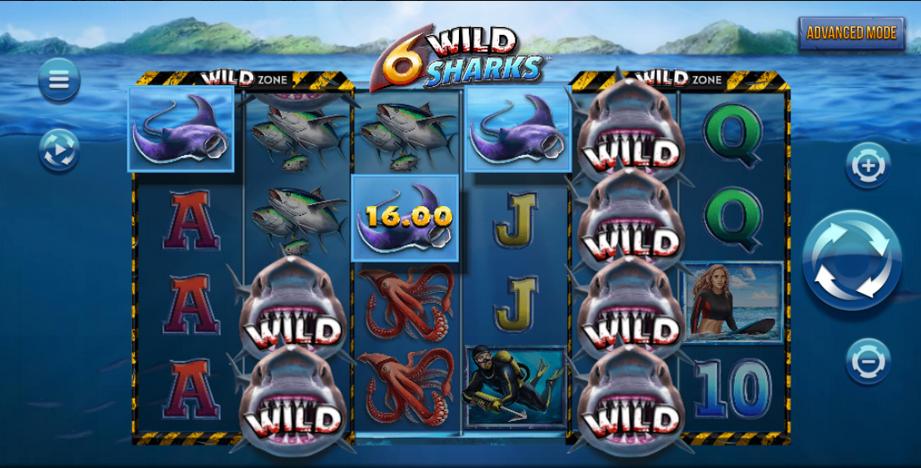 6 Wild Sharks Slot