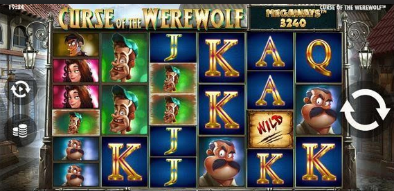 Curse of the Werewolf Megaways Slot Mobil
