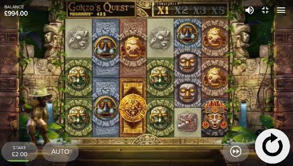 Gonzo's Quest Megaways Slot mobil