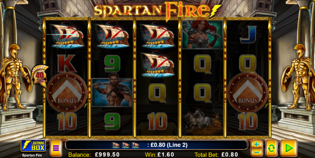 Spartan Fire Slot